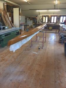 Rénovation d'un bateau d'aviron