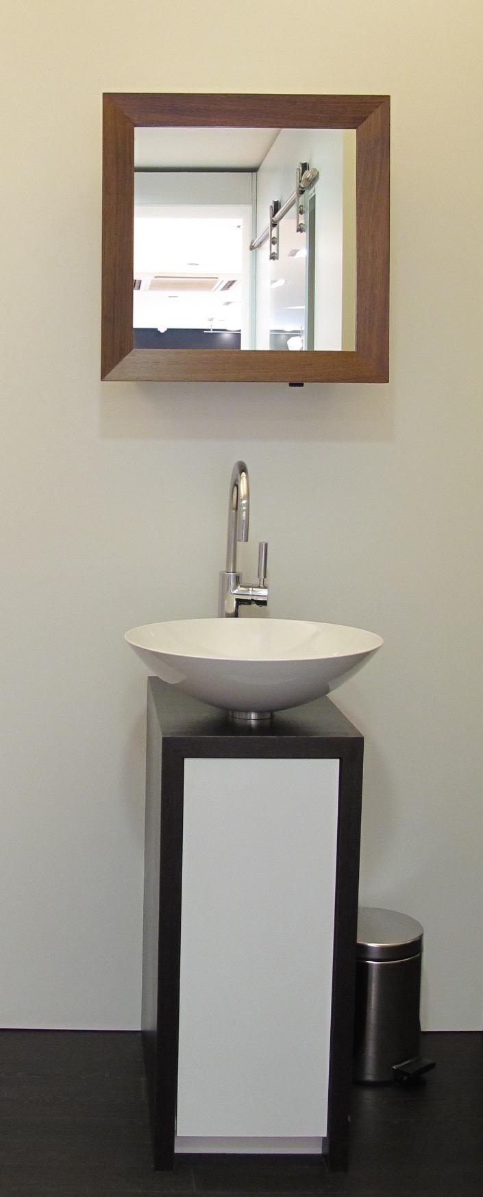 Petit et compact agencement trunz for Lavabo petit espace